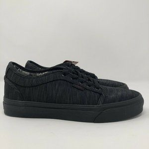 Vans Chukka Low Skate Shoes Black Gray Size 6.5